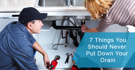 Items you can avoid putting down the drain